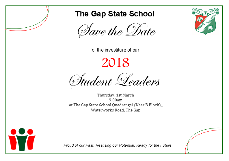2018 School Leaders Investiture Ceremony